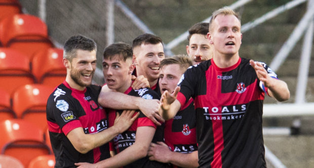 Crusaders disposed of Dundee United in the quarter-finals.