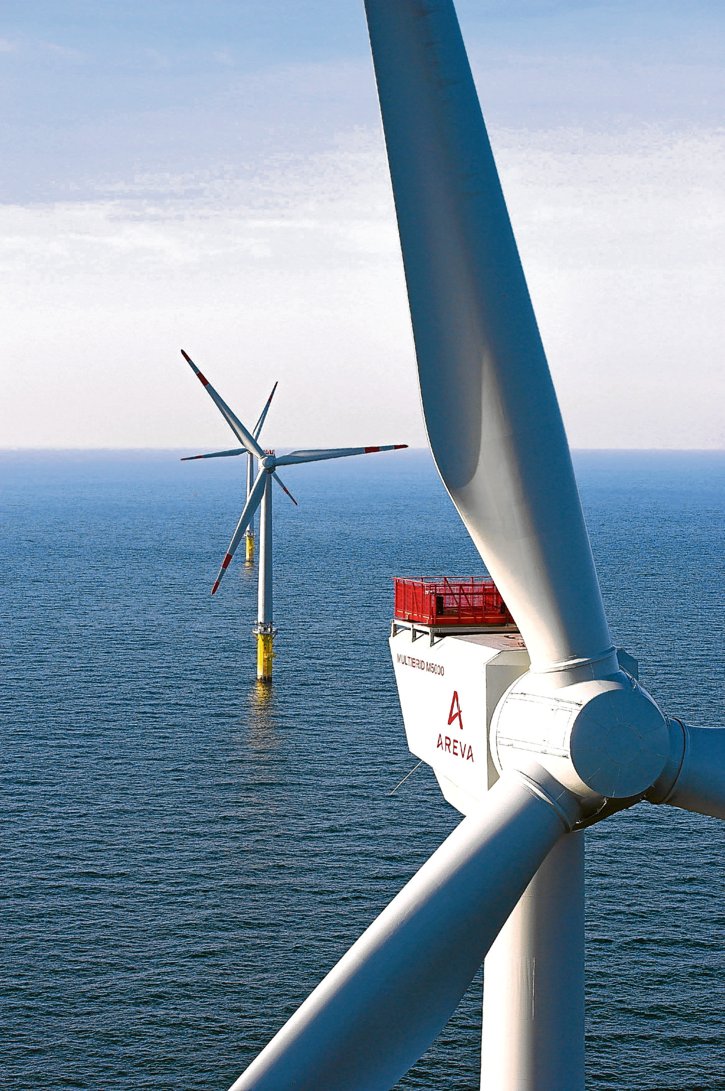 """Undated handout photo issued by Areva Wind of Areva wind turbines, as the offshore wind company will locate its UK turbine manufacturing base in Scotland. PRESS ASSOCIATION Photo. Issue date: Monday November 19, 2012. Chief executive Luc Oursel said: """"Scotland is known to be a pioneer in renewables and its commitment to offshore wind in particular was a key part of our decision to locate our future UK manufacturing base there. See PA story INDUSTRY Wind. Photo credit should read: Areva Wind/PA Wire NOTE TO EDITORS: This handout photo may only be used in for editorial reporting purposes for the contemporaneous illustration of events, things or the people in the image or facts mentioned in the caption. Reuse of the picture may require further permission from the copyright holder."""