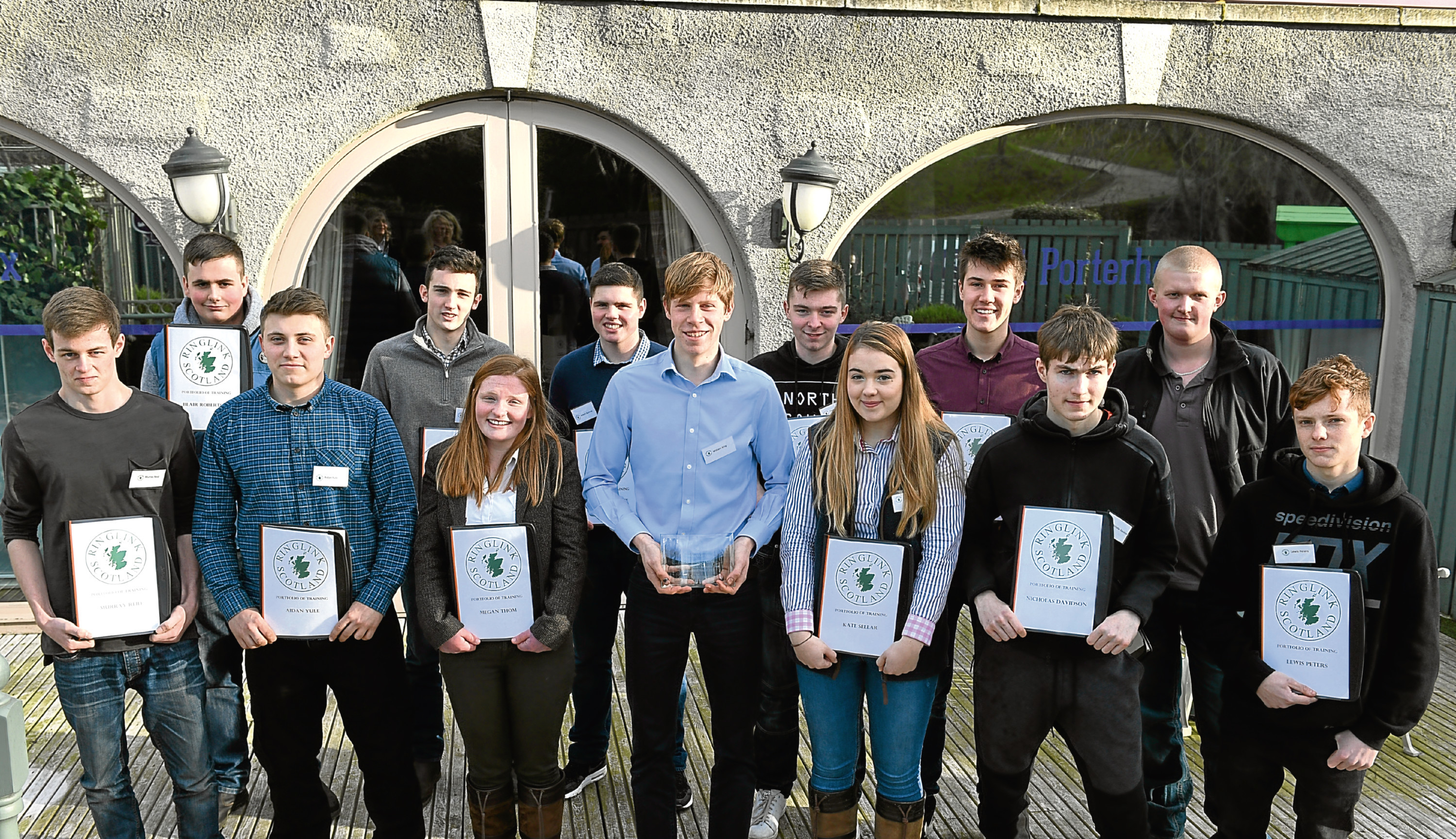 The interns with award winner William King (front centre).