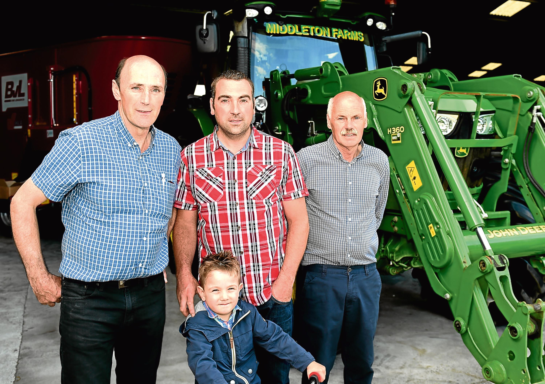 Drew Thomson, Ian Thomson, Ian Thomson and Kalvin Thomson.  Picture by Jim Irvine  16-6-17