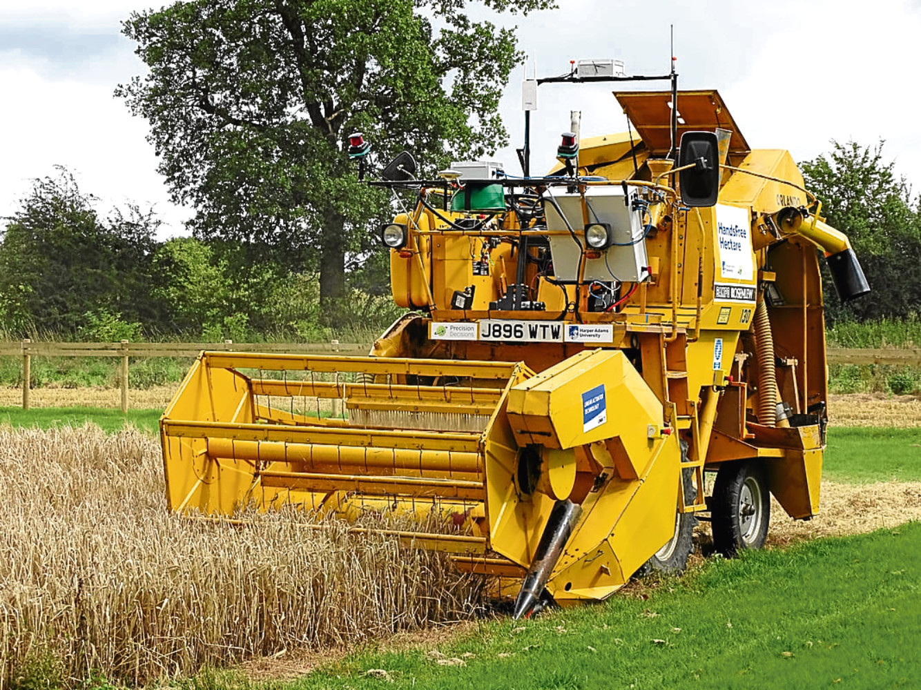 The remote control harvester used in the Harper Adams project.