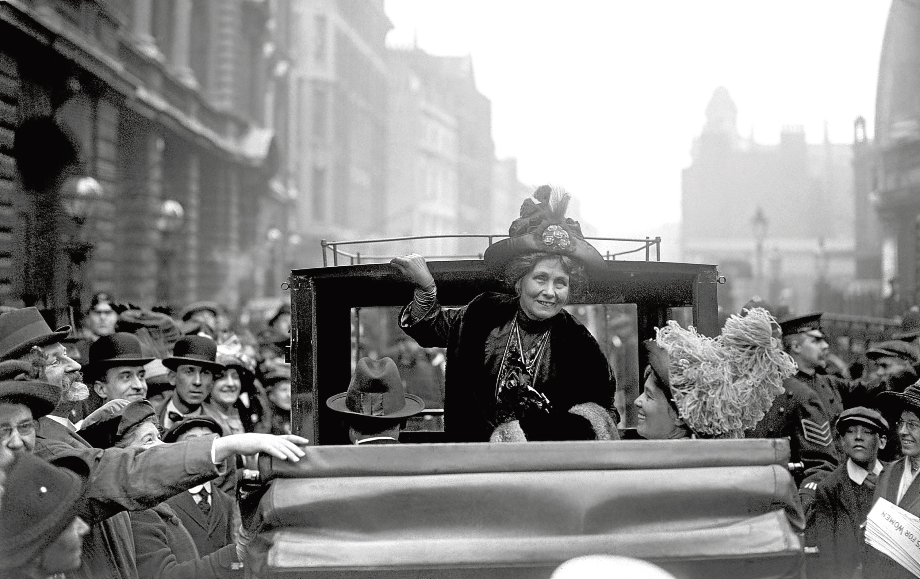 Undated file photo of founding member of the Women's Social and Political Union (WSPU) Emmeline Pankhurst leaving Bow Street after getting bail on a conspiracy charge in 1912. The Representation of the People Act, passed on February 6 1918, gave certain women over the age of 30 a vote and the right to stand for Parliament. PRESS ASSOCIATION Photo. Issue date: Saturday February 3, 2018. See PA story POLITICS Votes. Photo credit should read: PA Wire