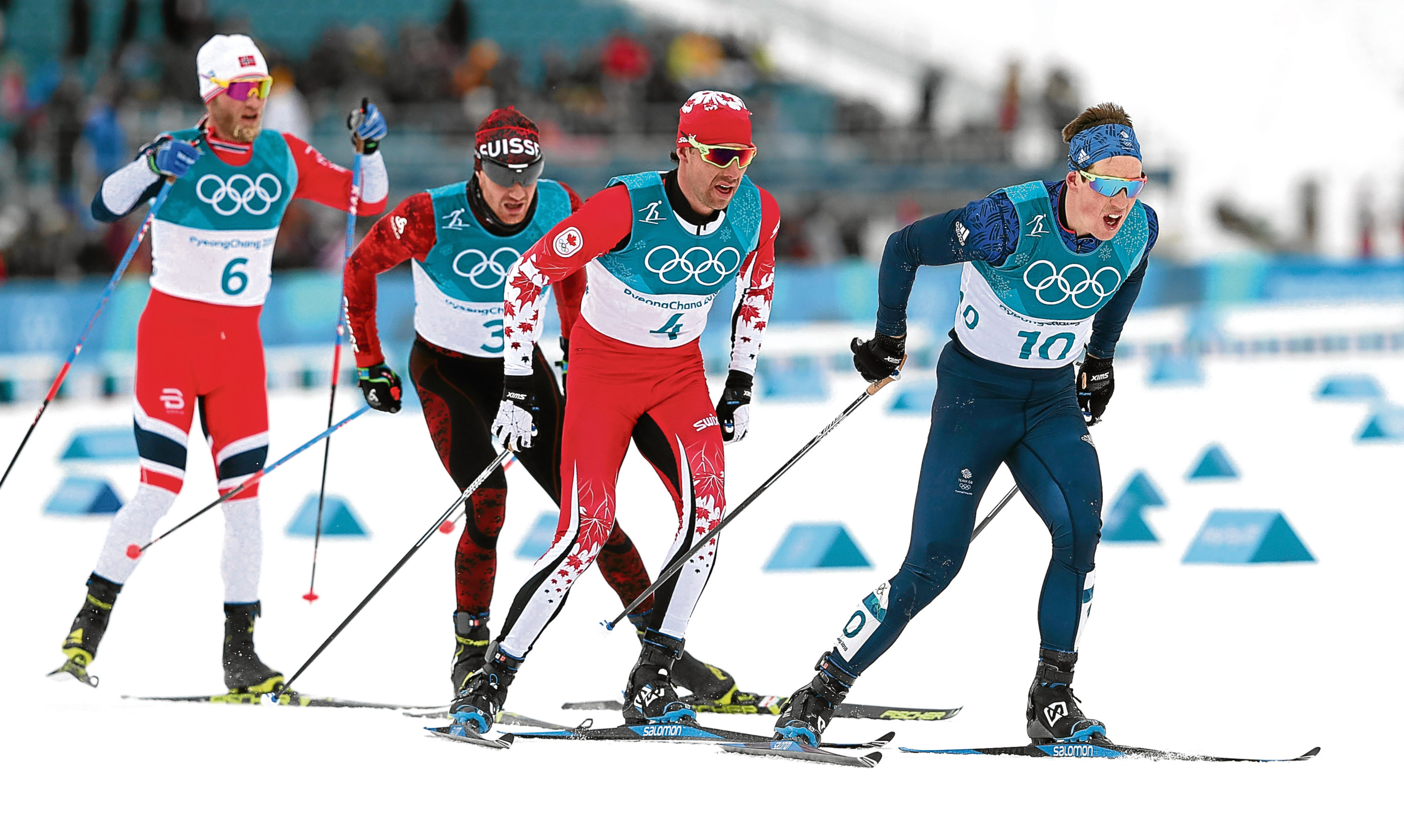 Great Britain's Andrew Musgrave in the Mens 15km + 15km Skiathlon at the Alpensia Cross Country Skiing Centre during day two of the PyeongChang 2018 Winter Olympic Games in South Korea. PRESS ASSOCIATION Photo. Picture date: Sunday February 11, 2018. See PA story OLYMPICS Cross Country. Photo credit should read: David Davies/PA Wire. RESTRICTIONS: Editorial use only. No commercial use.