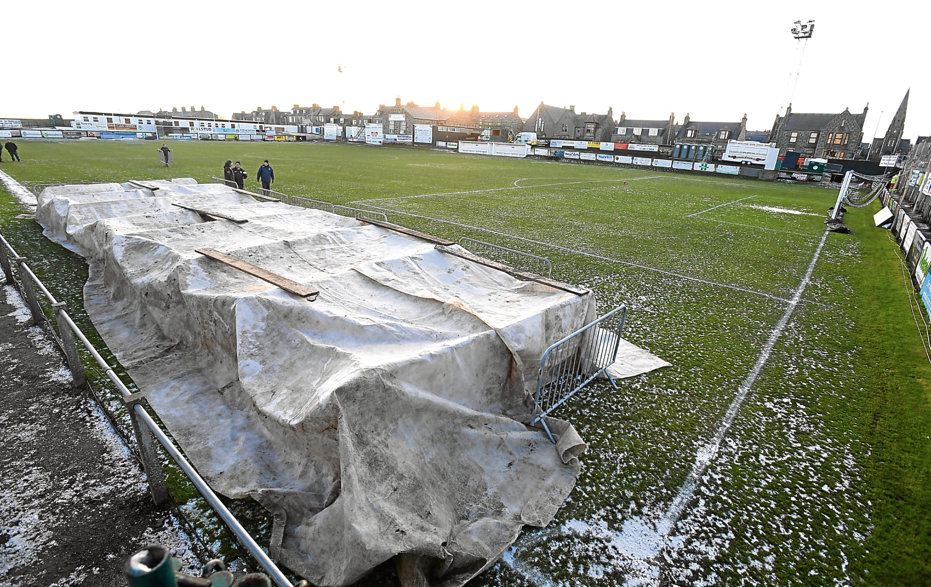 Pictured is the pitch at Bellslea Park Fraserburgh. Picture by Chris Sumner 19/1/18