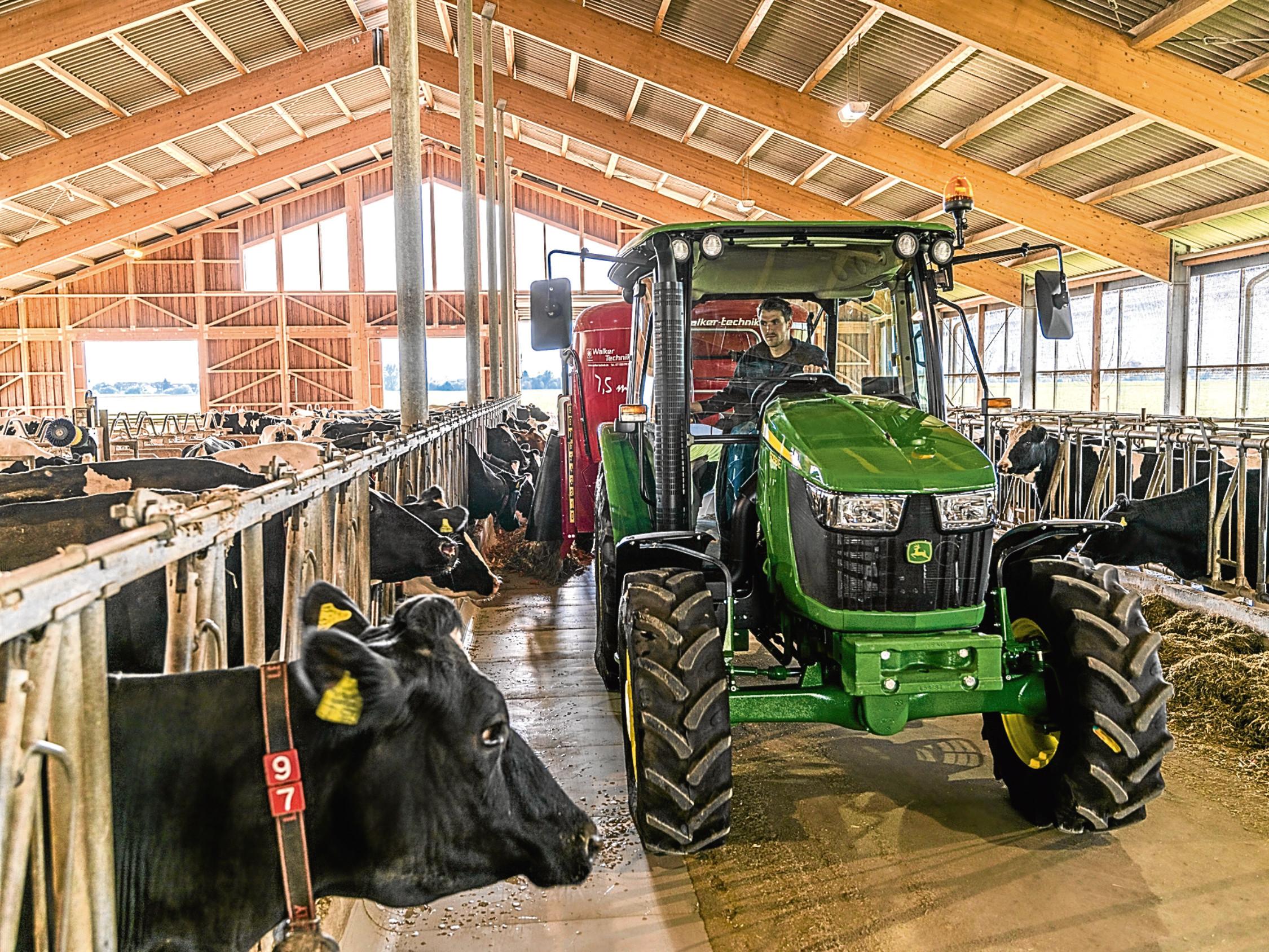 John Deere 5058E tractor