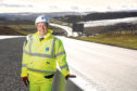 Economy Secretary Keith Brown on a visit to the AWPR near Aberdeen yesterday  Picture issued on behalf of Transport Scotland and is free to use