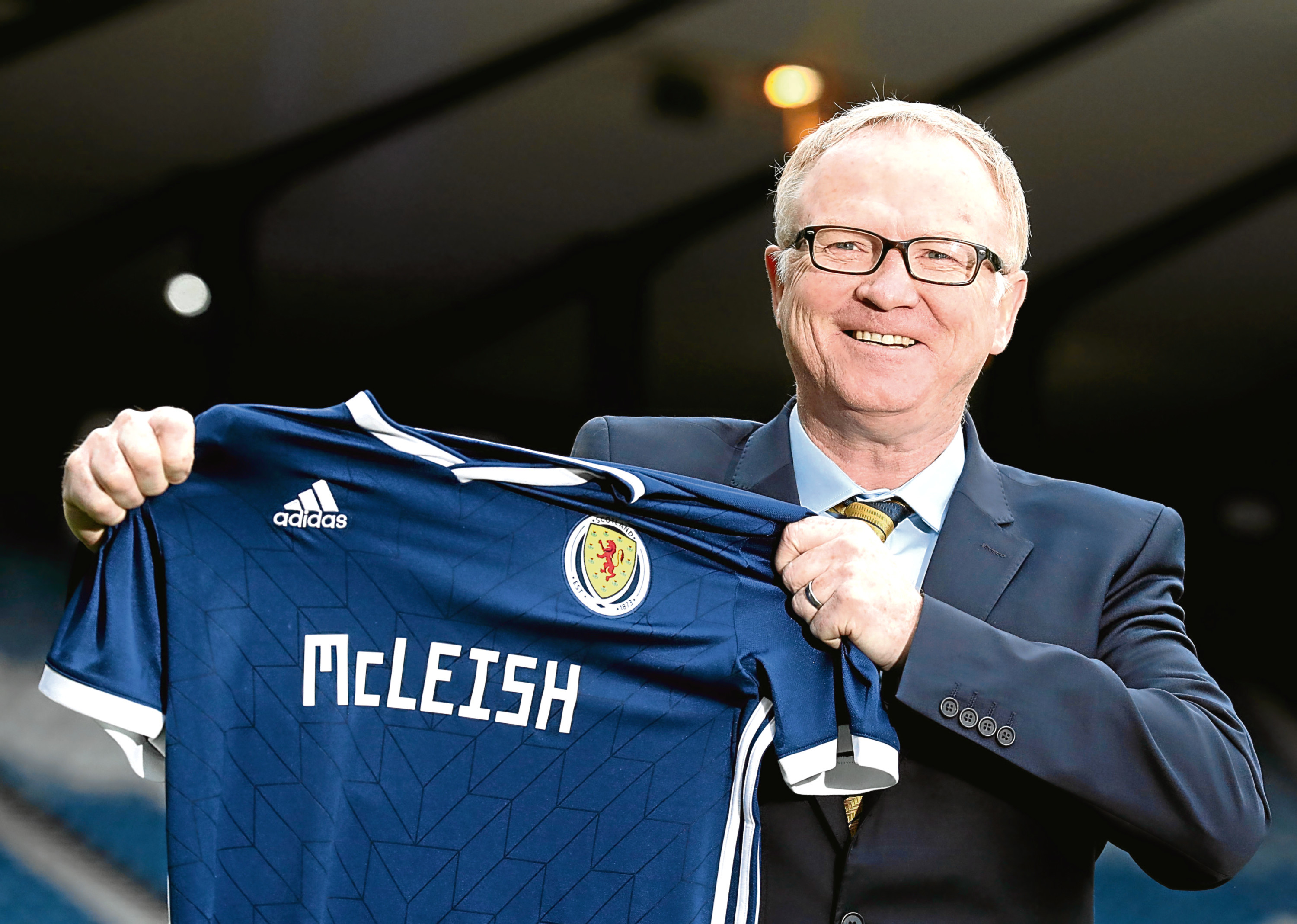 New Scotland manager Alex McLeish during the media unveiling at Hampden Park, Glasgow.