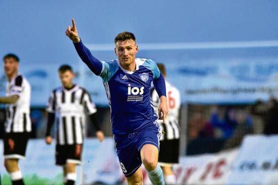 Rory McAllister got Peterhead's second goal