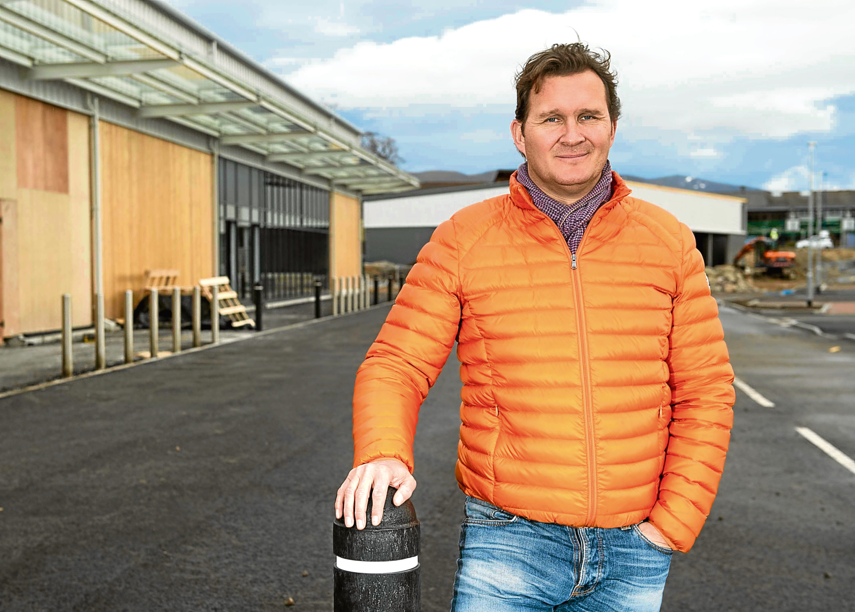 Chris Tiso CEO of Tiso Group opening new store in Aviemore See Press Release Debbie Byers, Beeline PR, 07990 570 220 / debbie@beelinepr.com  Pic Trevor Martin
