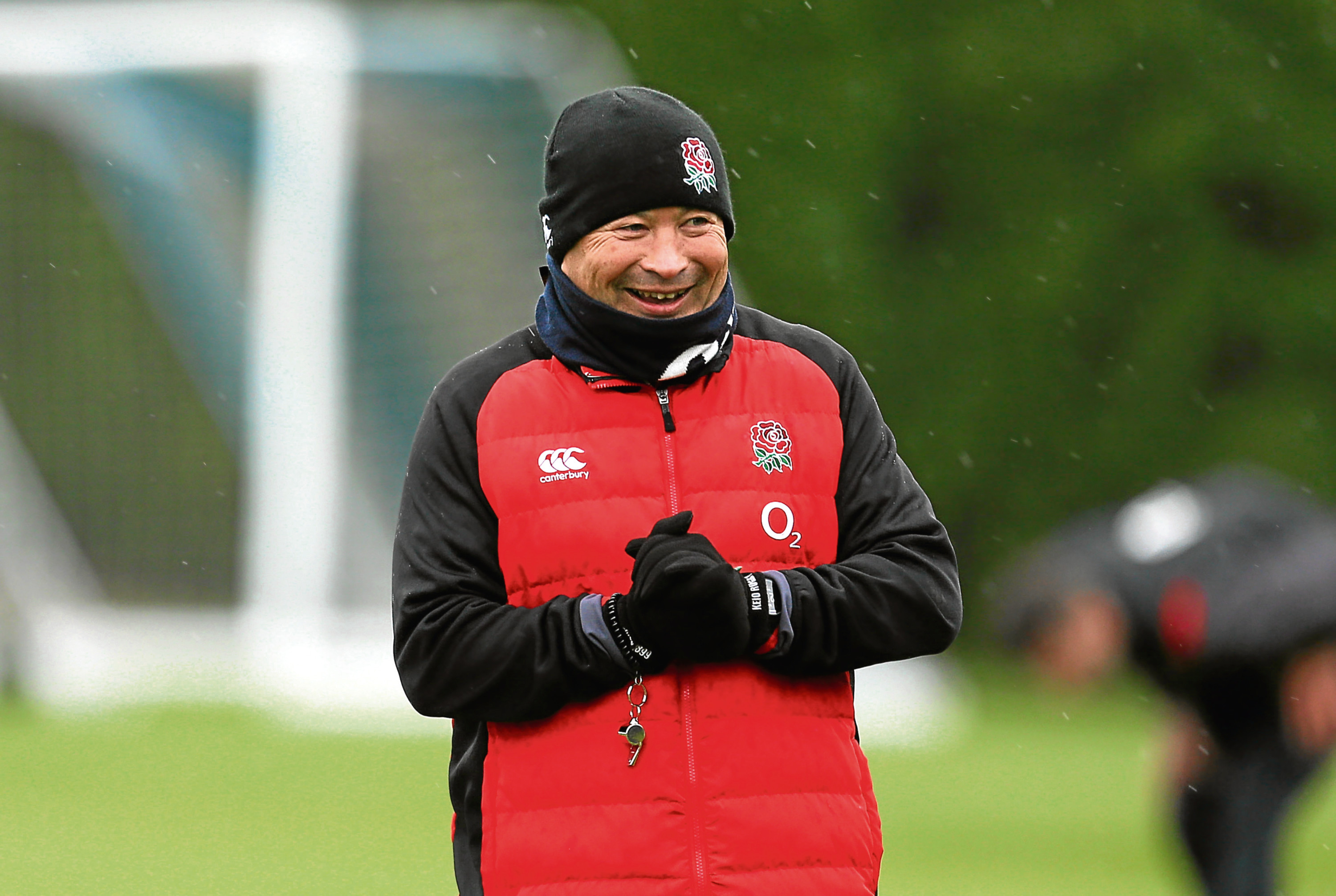 England coach Eddie Jones during the training session at Latymer Upper School, London. PRESS ASSOCIATION Photo. Picture date: Wednesday February 14, 2018. See PA story RUGBYU England. Photo credit should read: Steven Paston/PA Wire. RESTRICTIONS: Editorial use only, No commercial use without prior permission.