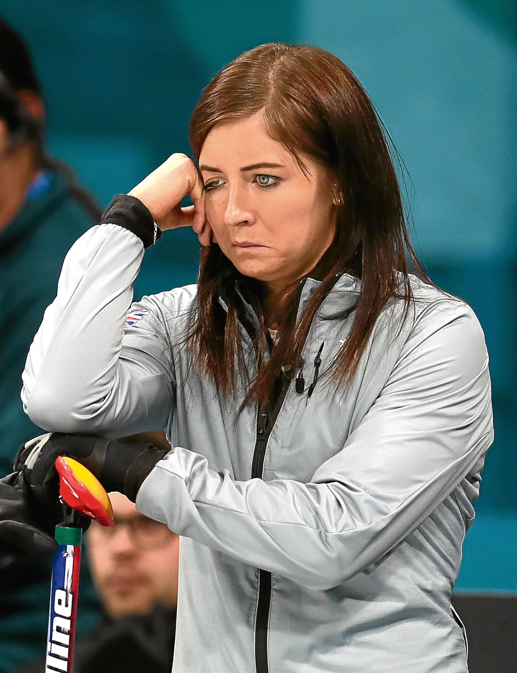 Great Britain skipper Eve Muirhead during the Women's Semi-Final against Sweden at the Gangneung Curling Centre during day fourteen of the PyeongChang 2018 Winter Olympic Games in South Korea. PRESS ASSOCIATION Photo. Picture date: Friday February 23, 2018. See PA story OLYMPICS Curling. Photo credit should read: Mike Egerton/PA Wire. RESTRICTIONS: Editorial use only. No commercial use
