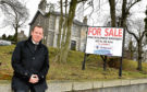 Grammar FP Club is up for sale on Queen's Road, Aberdeen. FG Burnett director Graeme Nisbet at the property.