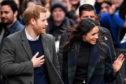 Prince Harry and Meghan Markle leave Social Bite cafe in Rose Street, Edinburgh