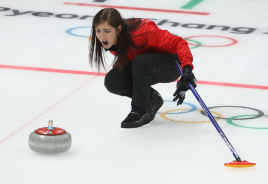 Eve Muirhead of Great Britain Curling Women's Round Robin