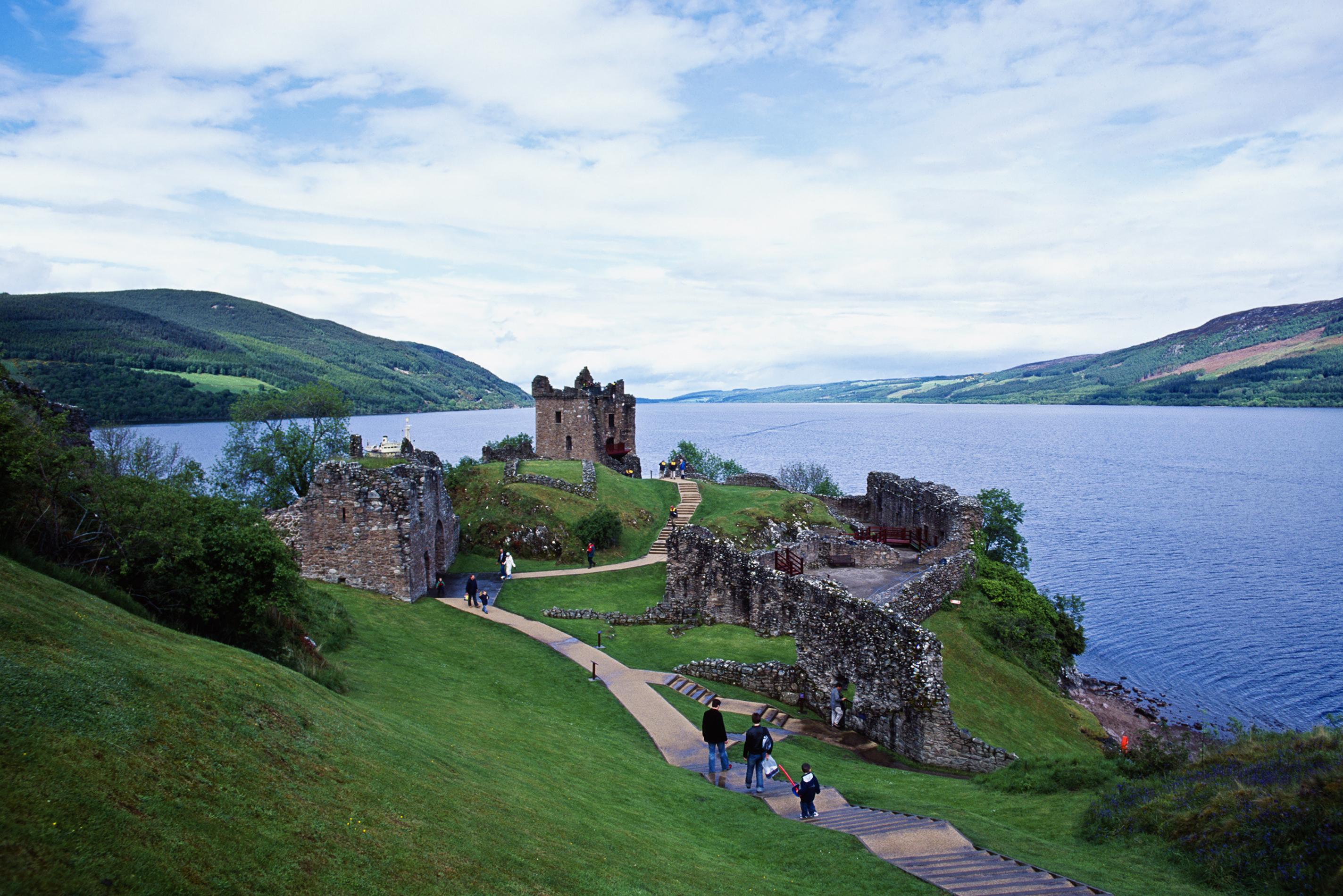 Urquhart Castle at Loch Ness Scotland
