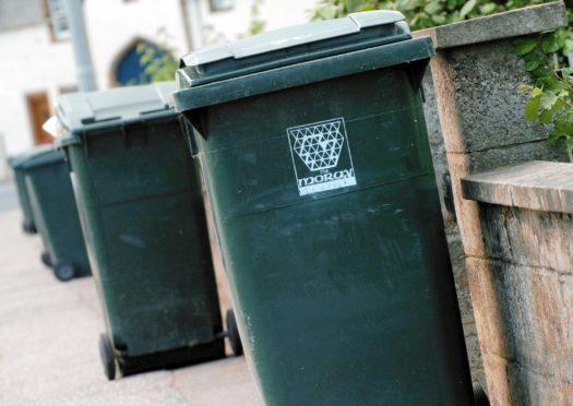 Moray Council bins.