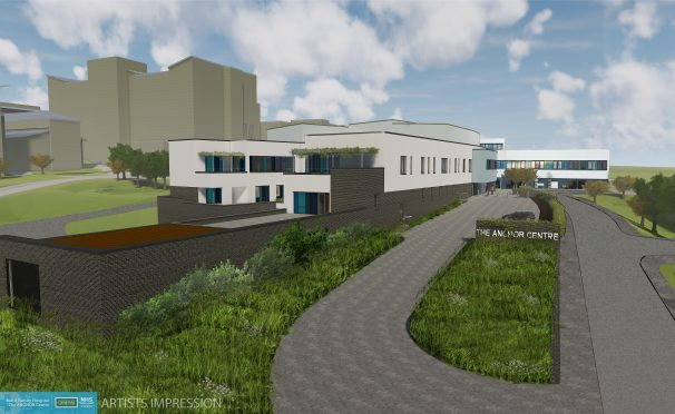 An artist's impression of the new ANCHOR Centre planned for the Foresterhill Health Campus.