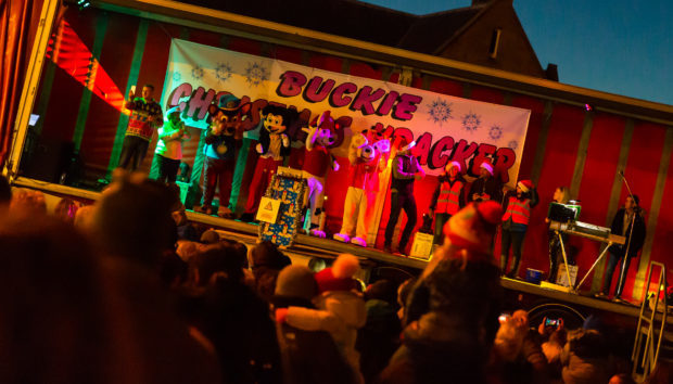Buckie Christmas Kracker stage entertain.