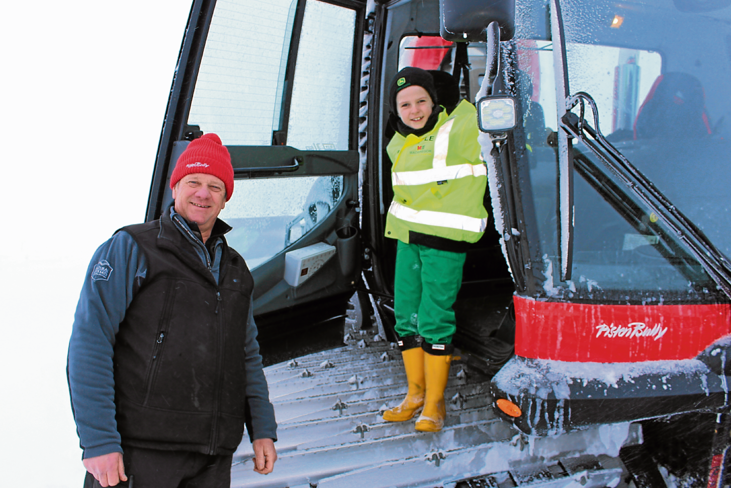 Special treat for Highlands snow hero Kyle.