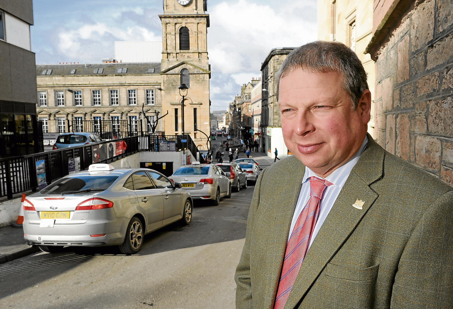 Inverness city centre manager David Haas at the Castle Wynd taxi rank, which is to be removed.