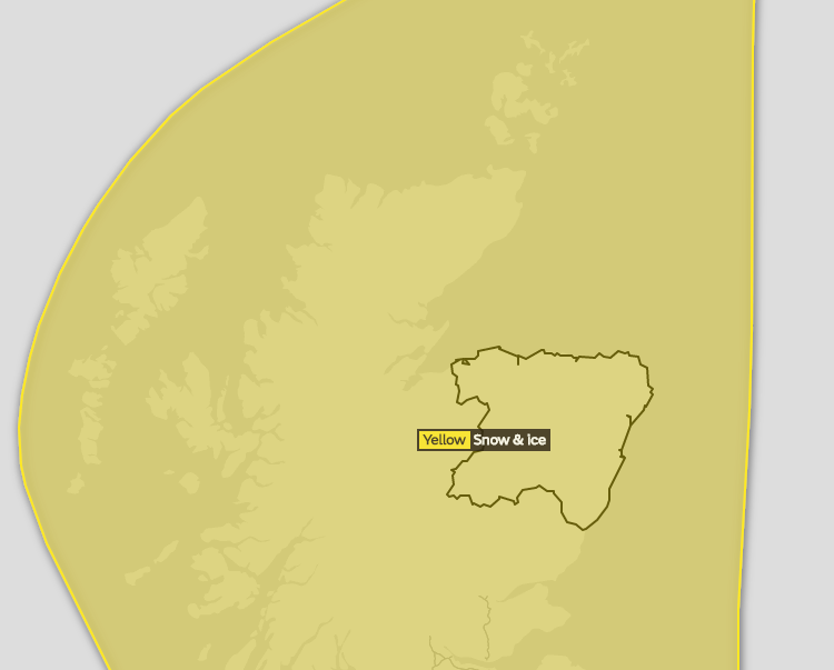 Snow and ice weather warning for north-east