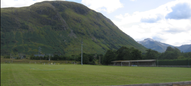 Fort William play at Claggan Park .