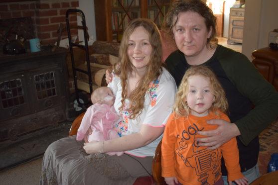 David and Gina Scanlan, Jude Scanlan, 3, and baby Willow Scanlan