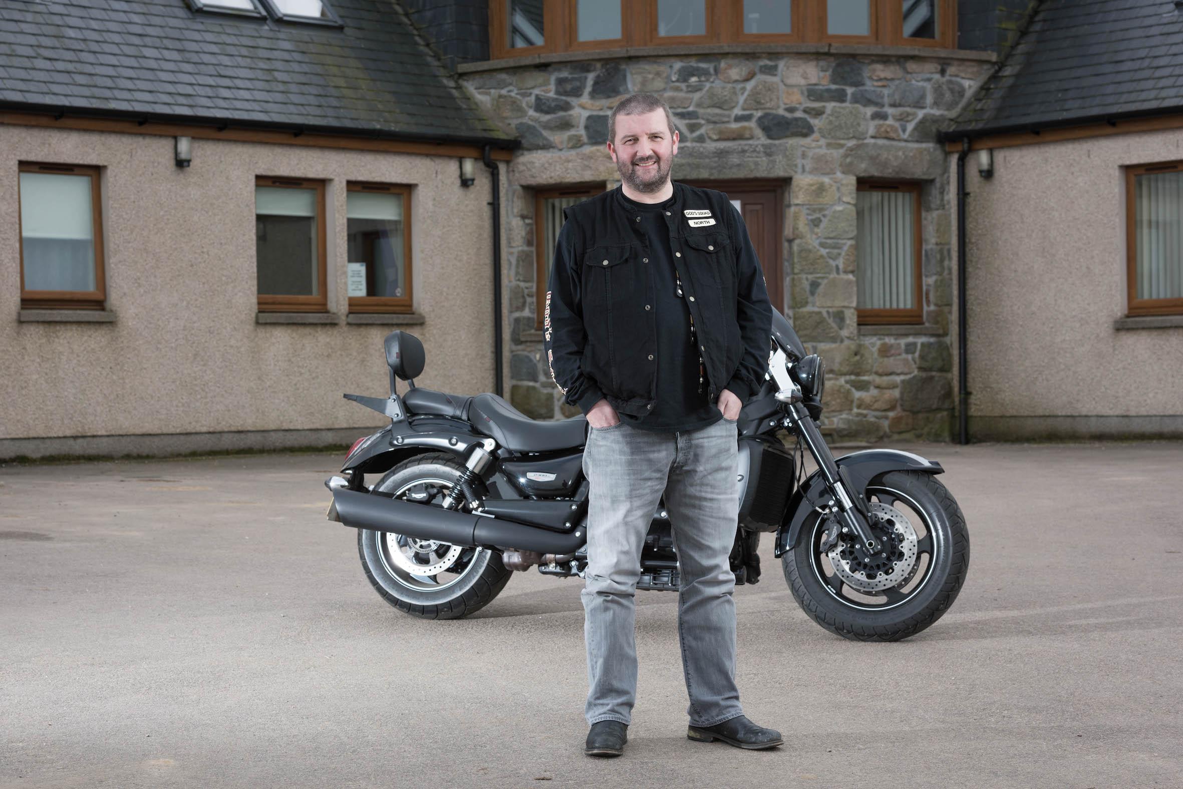 Gordon Cruden with his own bike.