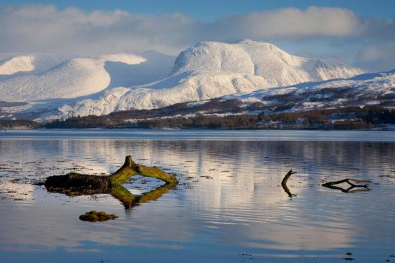 Ben Nevis from across Loch Eil