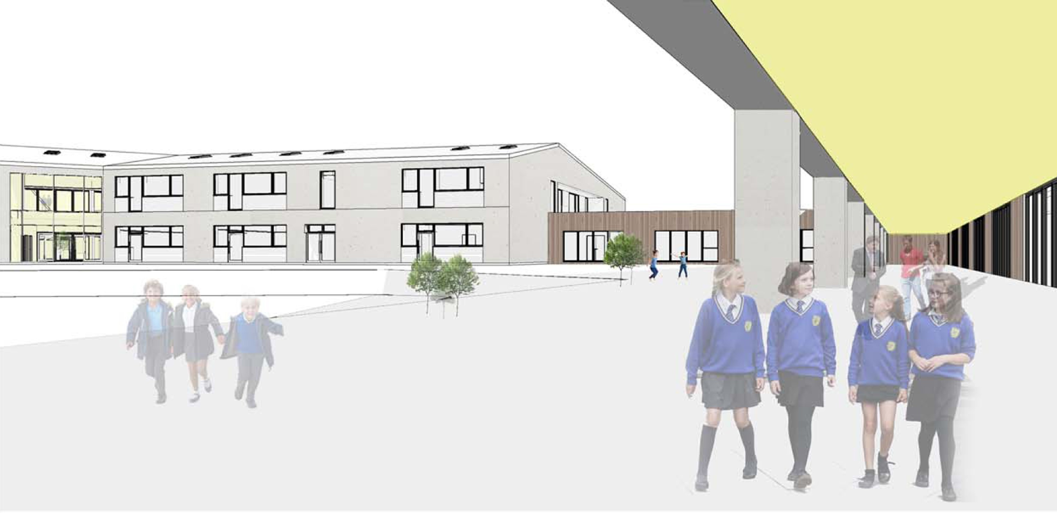 An artists impression of the £12.5 million new super-school.