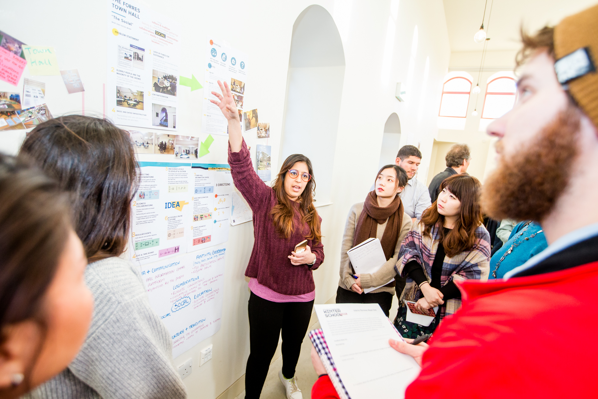 Design and innovtion students present their research at Glasgow School of Art's winter school near Forres. Picture: Paul Campbell