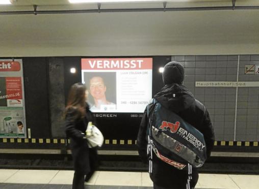 Continuing the search for Liam Colgan in Hamburg.