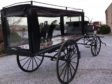 Horse-drawn hearse appears on market