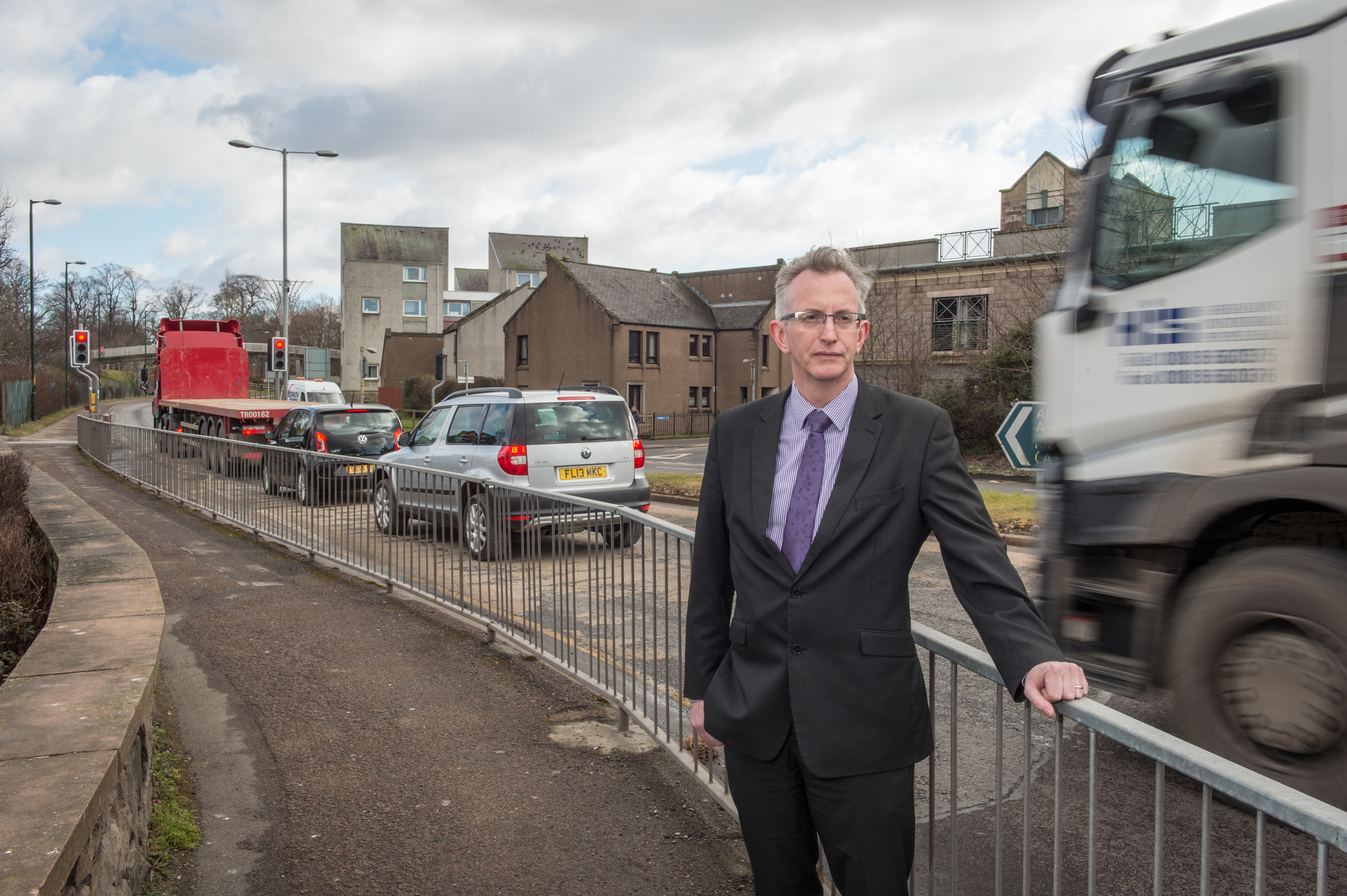 A96 dualling project manager John MacIntyre at the existing road in Elgin.