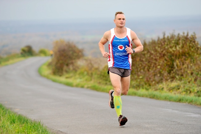 Corporal Jon Ward is nearing the end of his 100 marathons.