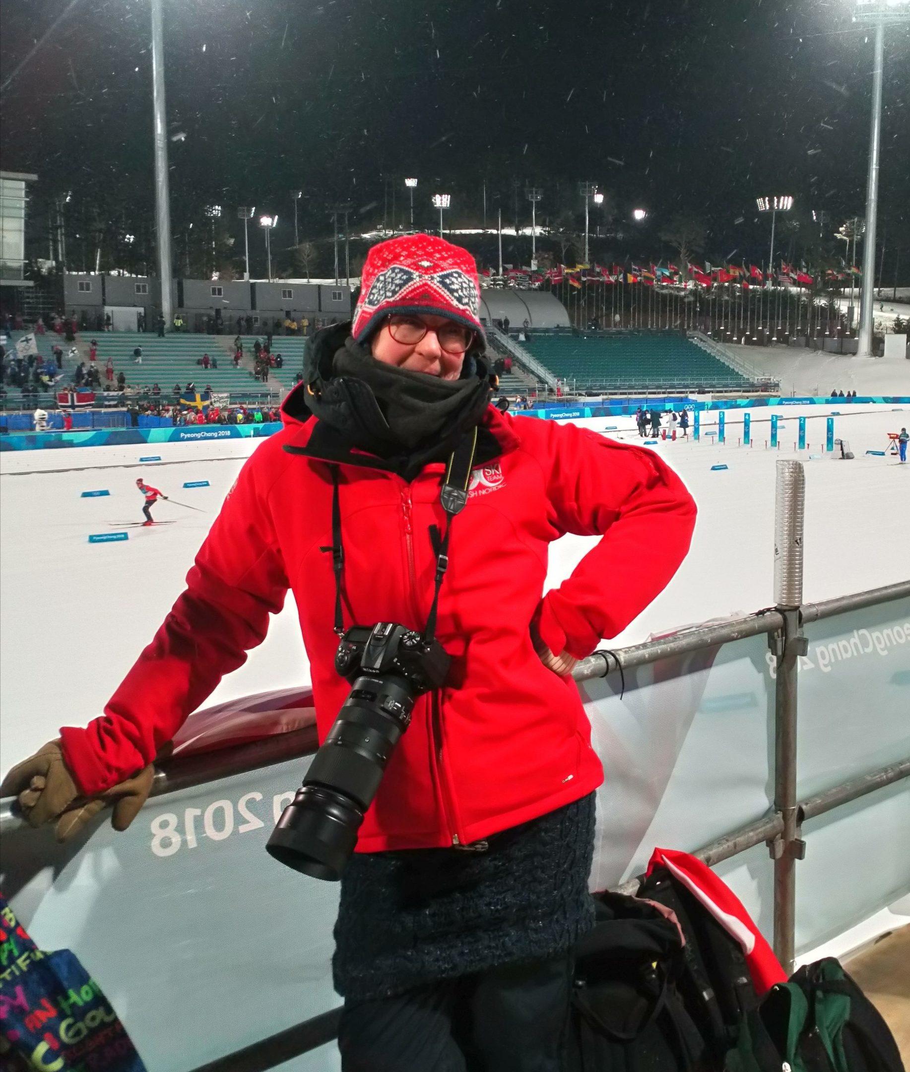 Judy Patterson in Pyeongchang.