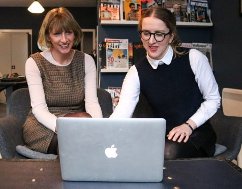 Ex-BBC health correspondent Eleanor Bradford (left) in her as associate partner with Jennifer Robertson, managing partner of Spey Progressive Communications