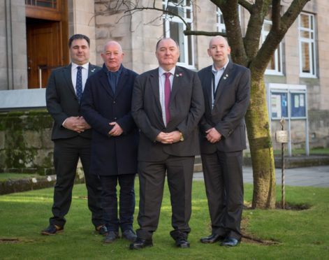 Councillors Ryan Edwards, Derek Ross, John Divers, Walter Wilson have joined together to form the Moray Alliance Group.