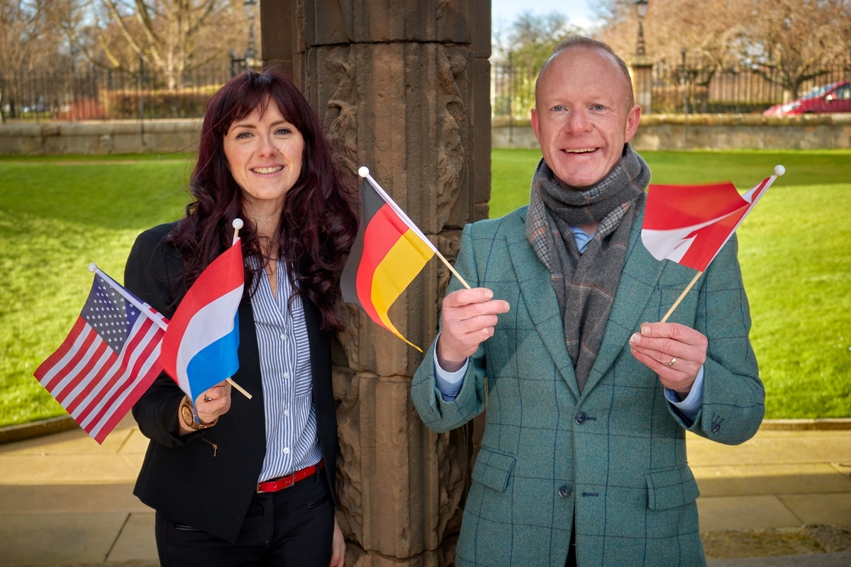 Visit Scotland regional director Jo Robinson and Laurie Piper, operations manager at Moray Speyside Tourism.