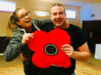 Proud military wife Claire Bellshaw, whose husband Mark serves with 3 SCOTS, gets to grips with dance partner Craig Beveridge as the two gear up for next month's inaugural Come Dancing with Poppyscotland event at the Macdonald Drumossie Hotel.