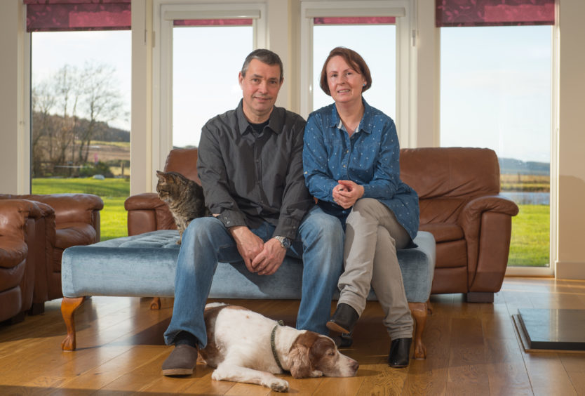 Mike and Tina Oakes at their property, Hanmer Lodge, Clochan, Buckie, Moray. Picture by Jason Hedges