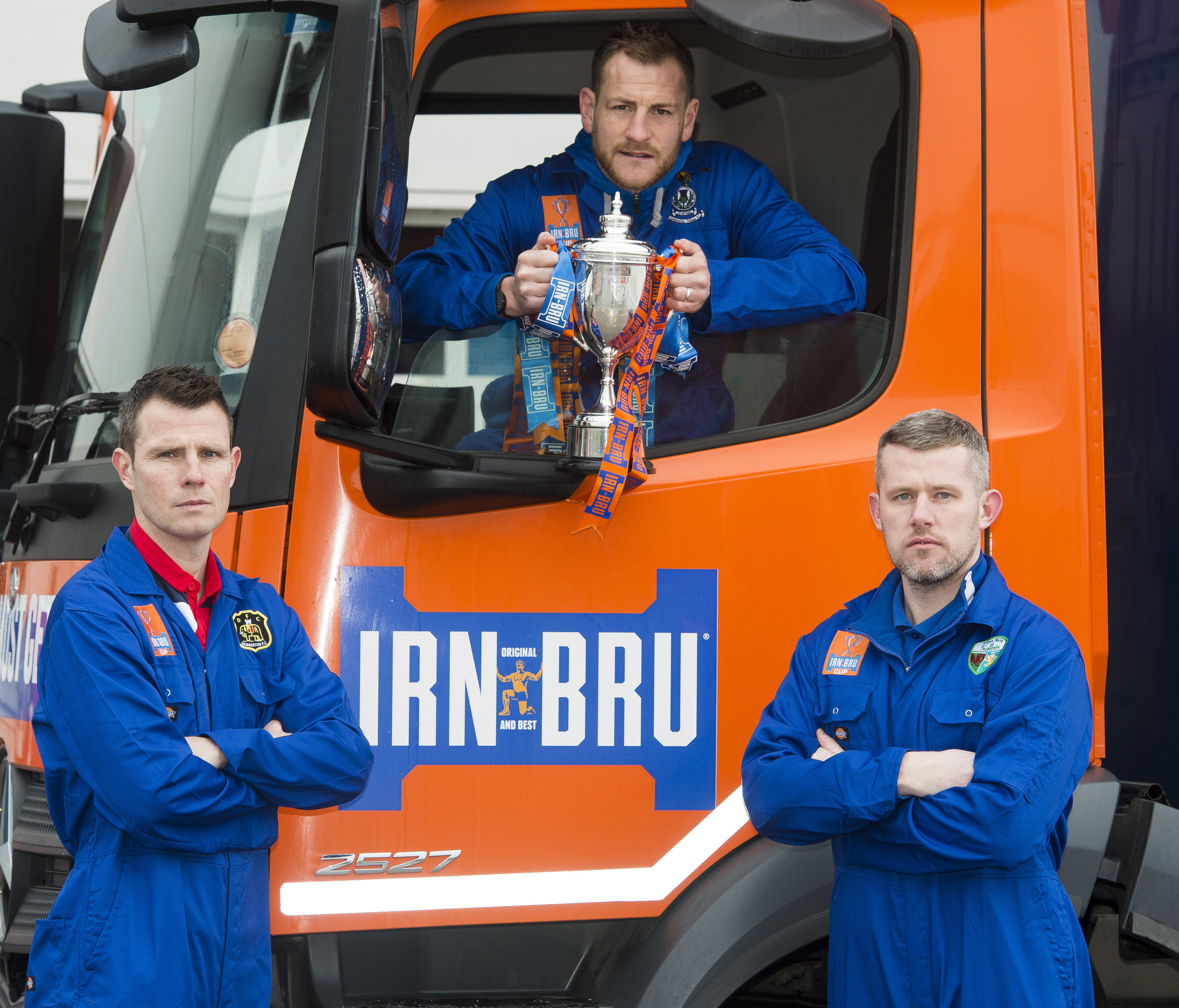 Dumbarton's Andy Dowie, Inverness CT's Gary Warren, and TNS's Paul Harrison.