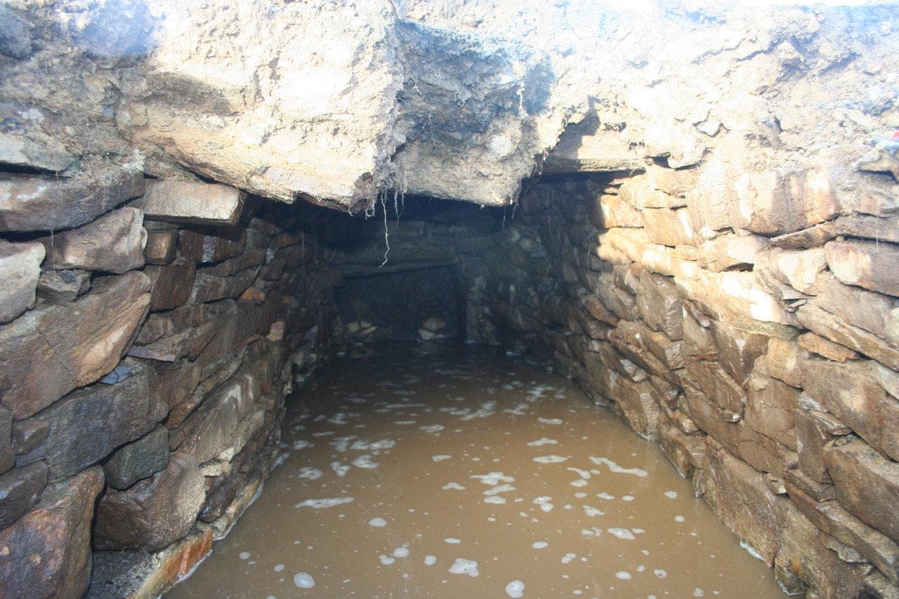 The underground chamber dating back 2,000 years.