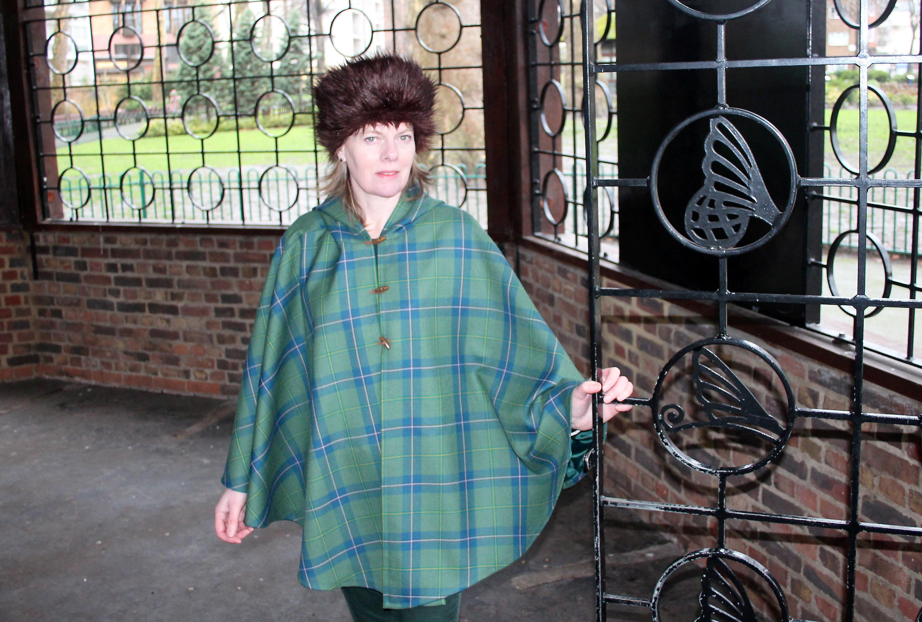 Tania Henzell wearing the tartan.