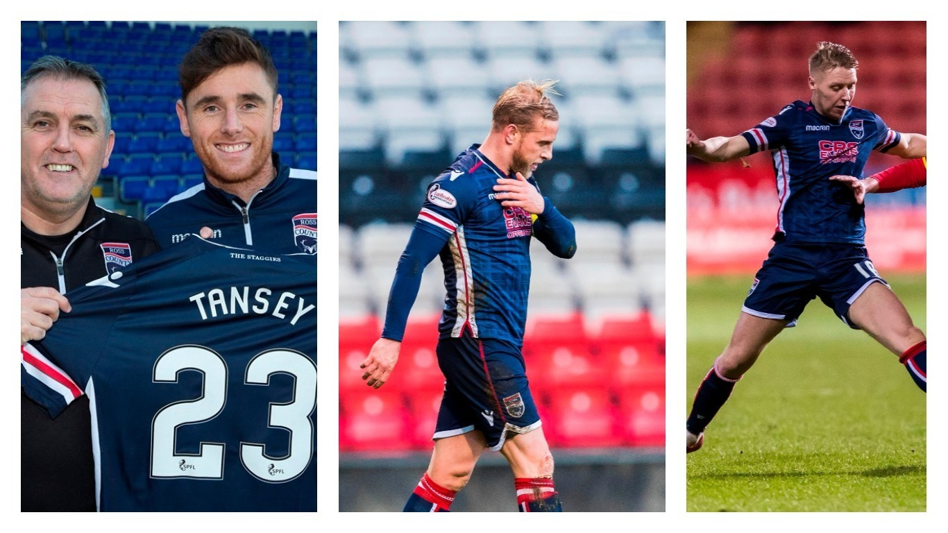 Ross County trio Greg Tansey, Andrew Davies and Jamie Lindsay