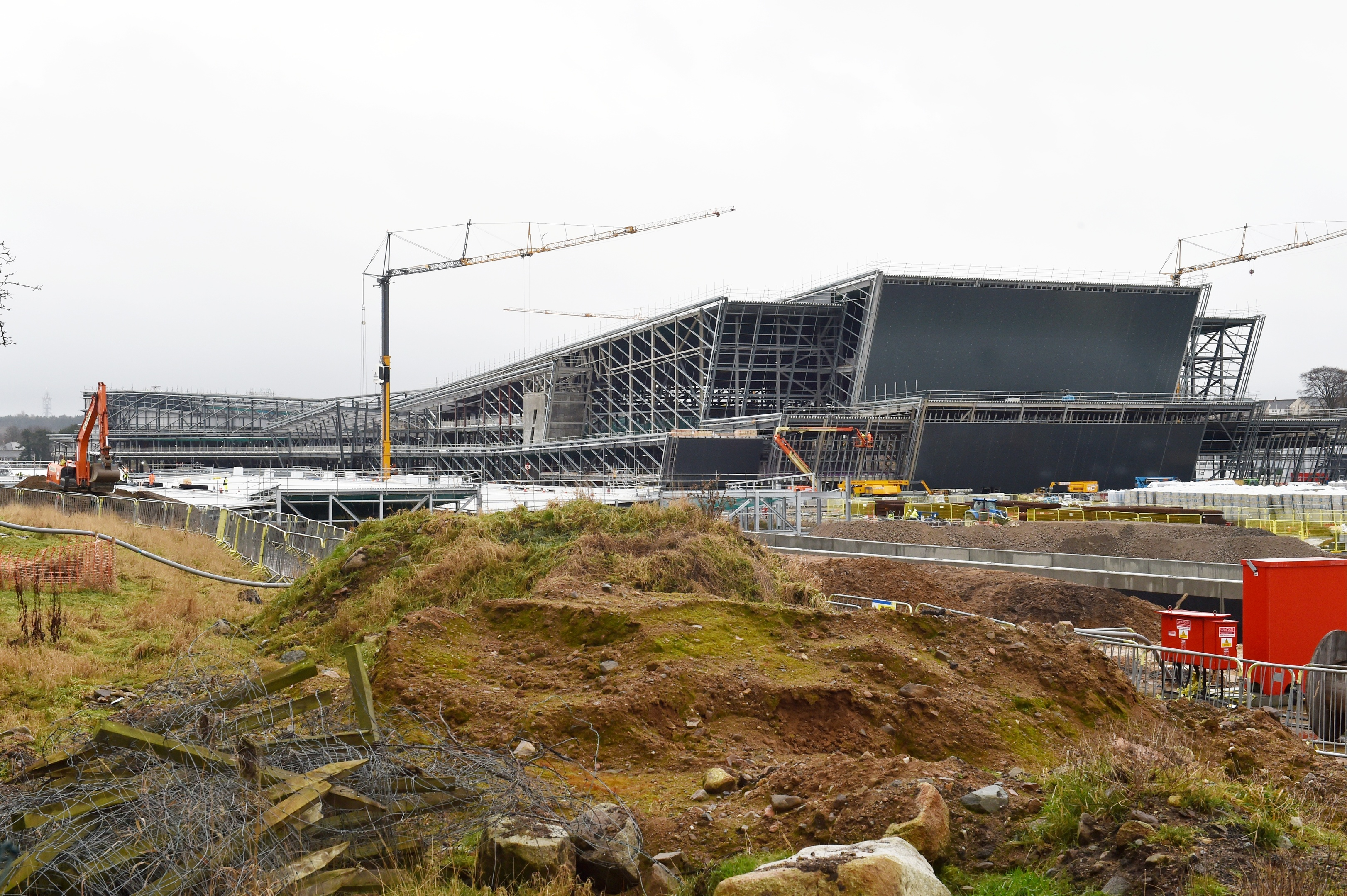 The new Aberdeen Exhibition and Conference Centre.  Kupa is one of a number of illegal workers thought to have been found working on the project.