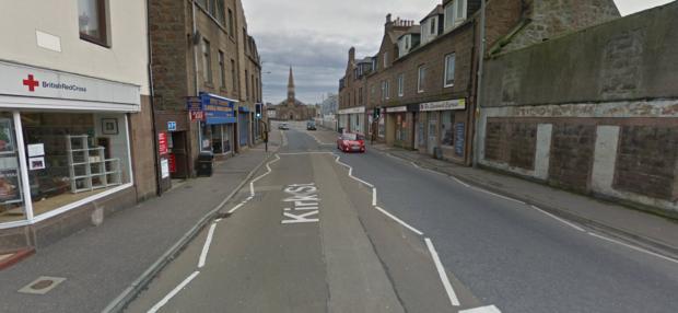 The incident happened in Peterhead's Kirk St