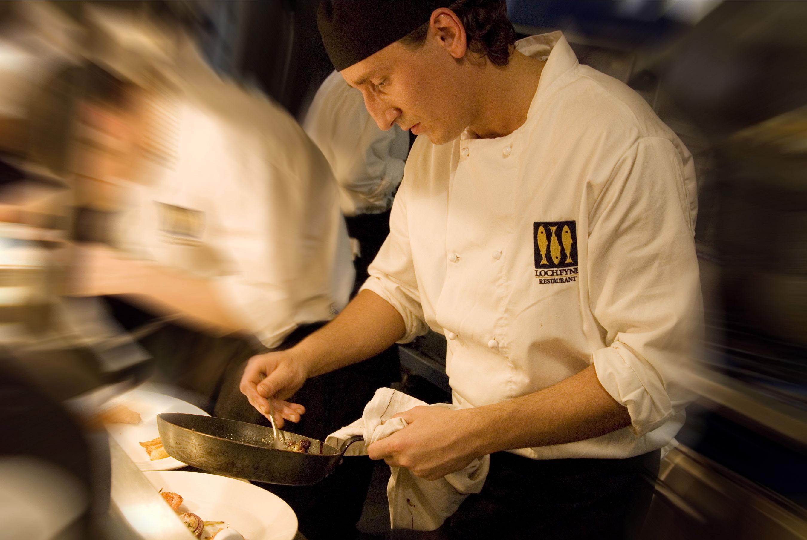 A chef at a Loch Fyne restaurant.