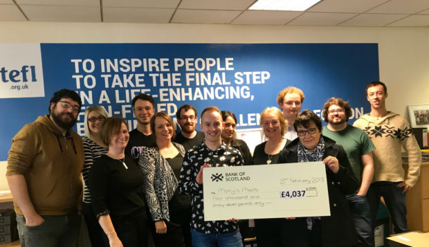 TEFL Org UK raised £4,000 for Mary's Meals charity