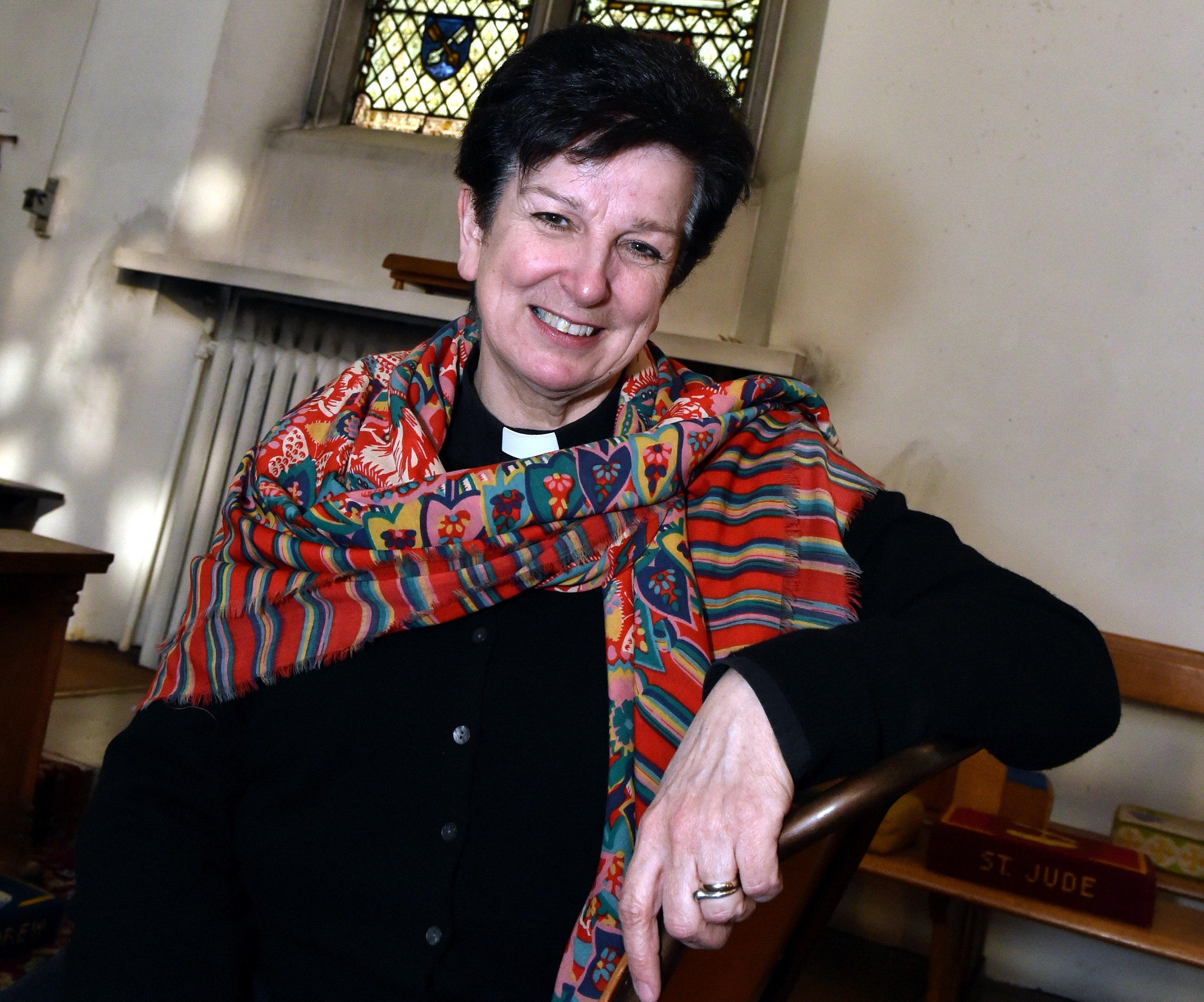Canon Anne Dyer at St Andrew's Cathedral in King Street. Canon Dyer is set to become the first female bishop in Scotland. Picture by Colin Rennie.